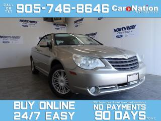 Used 2008 Chrysler Sebring TOURING | CONVERTIBLE | BLUETOOTH | LOW KM! for sale in Brantford, ON