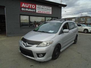 Used 2008 Mazda MAZDA5 GT**6 PASSAGERS/PLACES**CUIR**WOW!!**BLU for sale in St-Hubert, QC