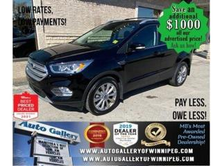 Used 2018 Ford Escape Titanium* 4WD/Push Button Start/NAVIGATION for sale in Winnipeg, MB