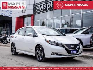 Used 2018 Nissan Leaf SL Full Electric Navi Blind Spot 360 Cam Bluetooth for sale in Maple, ON