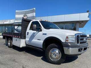 Used 2006 Ford F-350 Chassis XLT 4WD DUALLY DRW DIESEL 12FT FLAT DECK EGR DELET for sale in Langley, BC