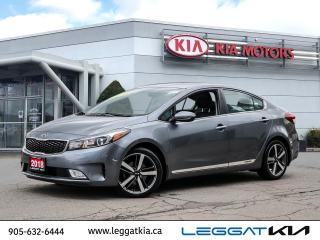 Used 2018 Kia Forte SX / LEATHER / SUNROOF/NAVIGATION/HEATED SEATS/PUSH START / MUCH MORE for sale in Burlington, ON