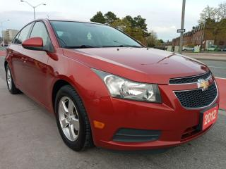 Used 2012 Chevrolet Cruze LT Turbo+ w/1SB-ONLY 120K-BLUETOOTH-AUX-USB-ALLOYS for sale in Scarborough, ON