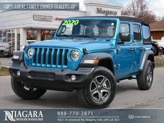 Used 2020 Jeep Wrangler Unlimited Sport S | Cold Weather | Apple Carplay for sale in Niagara Falls, ON