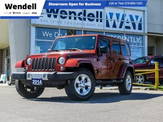 Used 2014 Jeep Wrangler Unlimited Sahara Nav/1 Owner for sale in Kitchener, ON