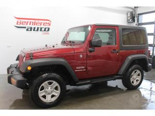 Used 2013 Jeep Wrangler SPORT 4X4 + TOIT DUR for sale in Lévis, QC