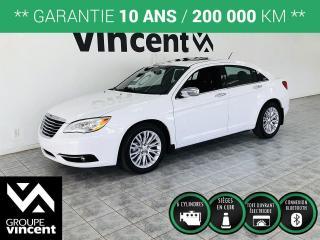 Used 2013 Chrysler 200 LIMITED ** GARANTIE 10 ANS ** Confortable et bien équipé! for sale in Shawinigan, QC