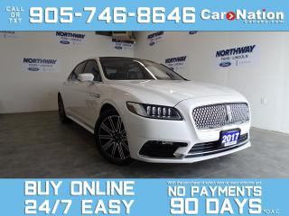 Used 2017 Lincoln Continental RESERVE   LUXURY PKG  REAR SEAT PKG ROOF  TECH PKG for sale in Brantford, ON