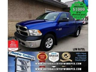Used 2018 RAM 1500 SXT* 4x4/Crew/Reverse Camera/HITCH RECEIVER for sale in Winnipeg, MB