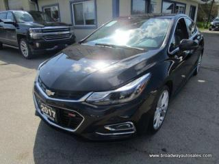 Used 2017 Chevrolet Cruze LOADED PREMIER-RS EDITION 5 PASSENGER 1.4L - TURBO.. NAVIGATION.. LEATHER.. HEATED SEATS.. BACK-UP CAMERA.. POWER SUNROOF.. BLUETOOTH SYSTEM.. for sale in Bradford, ON