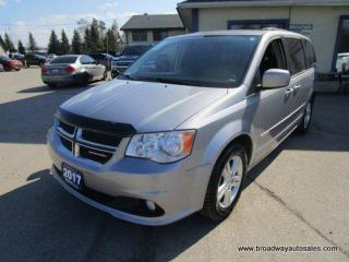 Used 2017 Dodge Grand Caravan LOADED CREW-EDITION 7 PASSENGER 3.6L - V6.. CAPTAINS.. FULL STOW-N-GO.. LEATHER.. HEATED SEATS.. BACK-UP CAMERA.. POWER SLIDING DOORS & GATE.. for sale in Bradford, ON