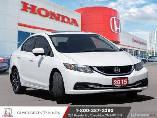Used 2015 Honda Civic EX BLUETOOTH | POWER SUNROOF | REARVIEW CAMERA for sale in Cambridge, ON