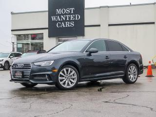 Used 2018 Audi A4 QUATTRO|KOMFORT|SUNROOF|F+R SENSORS|HEATED STEERING for sale in Kitchener, ON