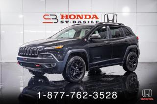 Used 2016 Jeep Cherokee TRAILHAWK + AWD + CUIR + TOIT + MAGS + W for sale in St-Basile-le-Grand, QC