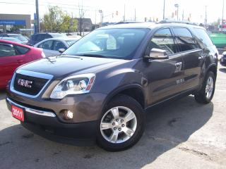 Used 2011 GMC Acadia SLE2,BLUETOOTH,BACKUP CAMERA,AUX PORT,CERTIFIED for sale in Kitchener, ON