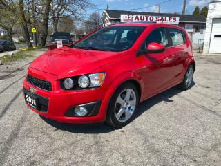 Used 2016 Chevrolet Sonic LT/Automatic/Sunroof/Rev Cam/BT/Comes Certified for sale in Scarborough, ON