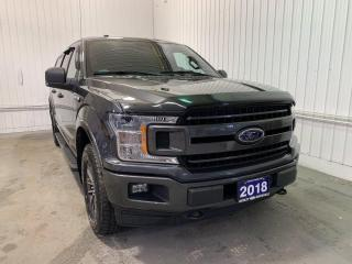 Used 2018 Ford F-150 XLT SPORT w/3.5L ECOBOOST, SPRAY-IN BEDLINER, FIBREGLASS CAP, AND ONE LOCAL OWNER for sale in Huntsville, ON