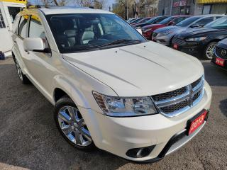 Used 2013 Dodge Journey R/T/LEA/SUNROOF/NAVI/B.CAM/PWR SEAT/AWD for sale in Scarborough, ON