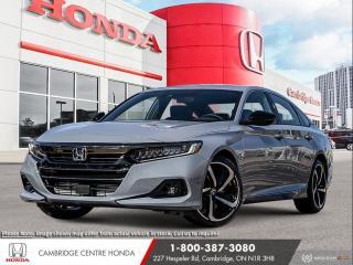 New 2021 Honda Accord Sport 1.5T HONDA SENSING TECHNOLOGIES | REAVIEW CAMERA | APPLE CARPLAY™ & ANDROID AUTO™ for sale in Cambridge, ON