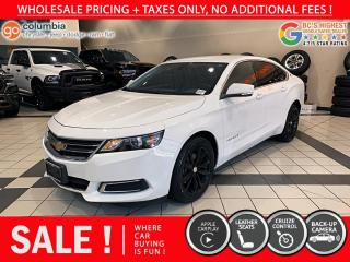 Used 2017 Chevrolet Impala LT - Local / Leather / No Dealer Fees for sale in Richmond, BC