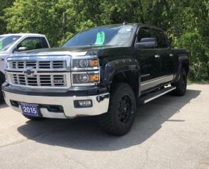 Used 2015 Chevrolet Silverado 1500 Crew 4x4 LTZ / Short Box for sale in Brockville, ON