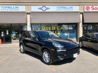 Used 2017 Porsche Cayenne Clean CarFax, Leather, Pano Roof, Navigation for sale in Vaughan, ON
