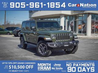 Used 2021 Jeep Wrangler Unlimited Sahara 80th Anniversary 4x4| SKY TOP| for sale in Burlington, ON