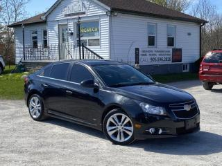 Used 2014 Chevrolet Cruze LOW KMS RS Blind Spot Leather Sunroof Backup Cam Bluetooth for sale in Sutton, ON