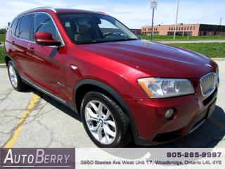 Used 2014 BMW X3 xDrive28i Accident Free! for sale in Woodbridge, ON