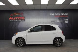 Used 2016 Nissan Micra SR MANUEL + MAGS CAMERA SIÈGES BLUETOOTH 77 874 KM for sale in Lévis, QC