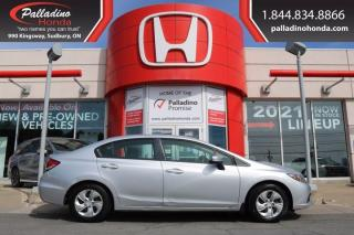 Used 2014 Honda Civic Sedan LX - CERTIFIED - BRAND NEW TIRES NEW FRONT BRAKES - for sale in Sudbury, ON