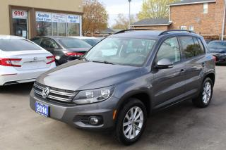 Used 2014 Volkswagen Tiguan Comfortline Pano Roof Leather 4Motion for sale in Brampton, ON