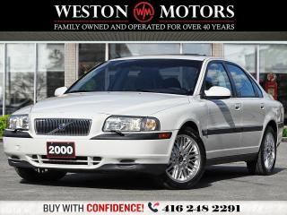 Used 2000 Volvo S80 2.9L*CERTIFIED!*LEATHER*SUNROOF*HEATED SEATS for sale in Toronto, ON