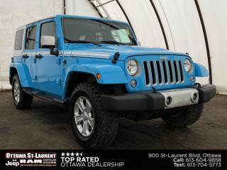 Used 2017 Jeep Wrangler Unlimited Sahara NAVIGATION, ALPINE AUDIO, TRAILER TOW GROUP for sale in Ottawa, ON