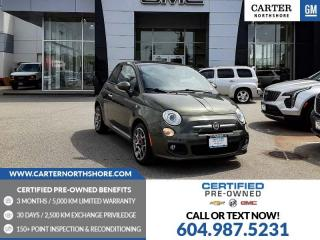 Used 2014 Fiat 500 Sport Moonroof - Bluetooth - Leather Steering Wheel for sale in North Vancouver, BC