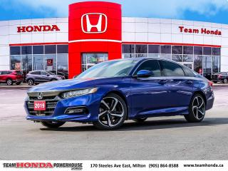 Used 2019 Honda Accord Sport 1.5T Sport--1 Owner--No Accidents--Backup Camera--Heated Seats--Remote Starter for sale in Milton, ON