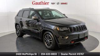 Used 2017 Jeep Grand Cherokee Trailhawk 4x4, v6, Power Sunroof, Navigation, Heated Seats, Remote Start for sale in Winnipeg, MB