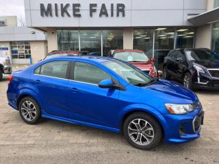 Used 2018 Chevrolet Sonic LT Auto Heated Front Seats, Cruise Control, Remote Start, Rear Camera, Power Windows/Doors for sale in Smiths Falls, ON