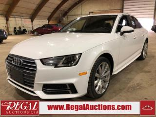 Used 2018 Audi A4 KOMFORT 4D SEDAN AWD 2.0L for sale in Calgary, AB