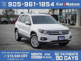 Used 2016 Volkswagen Tiguan Comfortline 4MOTION| LOCAL TRADE| PANO ROOF| for sale in Burlington, ON