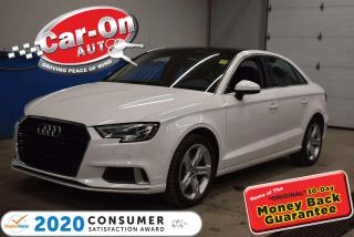 Used 2018 Audi A3 PREMIUM PKG | SUNROOF | PARK SENSORS | HEATED SEAT for sale in Ottawa, ON