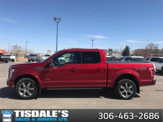 Used 2015 Ford F-150 Lariat  - Leather Seats -  Bluetooth for sale in Kindersley, SK