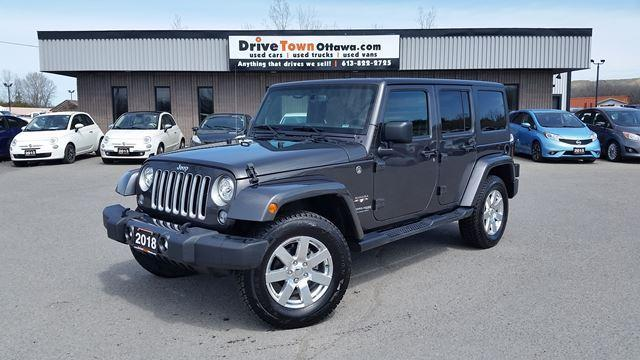2018 Jeep Wrangler Unlimited SAHARA 4DR 4X4  **LEATHER**NAVIGATION**