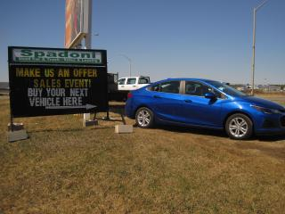 Used 2019 Chevrolet Cruze Make us an offer for sale in Thunder Bay, ON