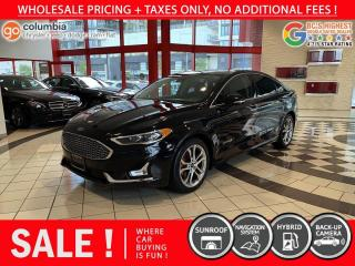 Used 2019 Ford Fusion Hybrid Titanium Hybrid - Leather / Nav / Sunroof / No Dealer Fees for sale in Richmond, BC