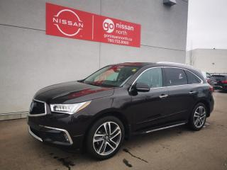 Used 2017 Acura MDX Elite Pkg / AWD / Leather / Power Gate / Nav / Roof / Used Acura Dealership for sale in Edmonton, AB