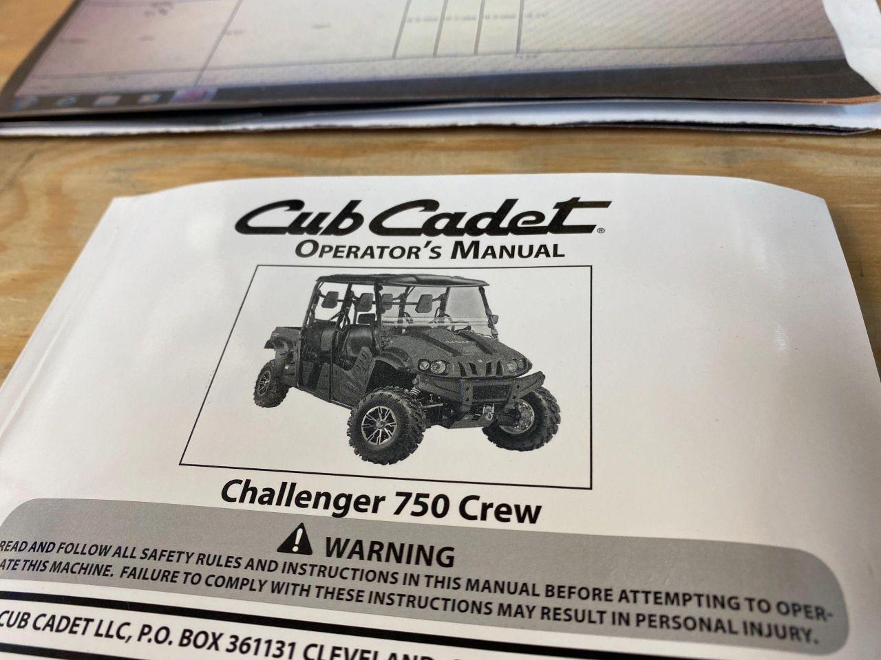 2017 Cub Cadet CHALLENGER 750