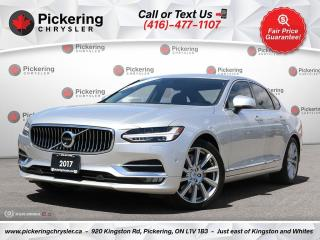 Used 2017 Volvo S90 T6 Inscription - NAV/COOLED SEATS/SUNROOF/WOOD INL for sale in Pickering, ON