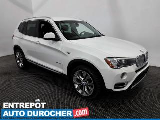 Used 2017 BMW X3 XDrive28i - AWD - Caméra de Recul - Climatiseur for sale in Laval, QC