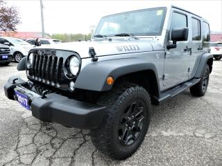 Used 2017 Jeep Wrangler Unlimited Willys Wheeler | Big Screen | Bluetooth | Cruise Control for sale in Essex, ON